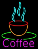 Pink Coffee Cup LED Neon Sign