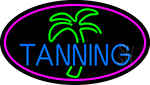 Blue Tanning Palm Tree LED Neon Sign