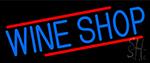 Blue Wine Shop LED Neon Sign