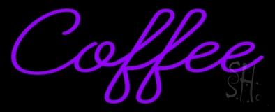 Purple Coffee Neon Sign