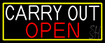 Carry Out Open LED Neon Sign