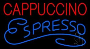 Red Cappuccino Blue Espresso LED Neon Sign