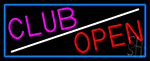 Club Bar Open Neon Sign
