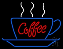 Red Coffee Inside Cup LED Neon Sign