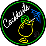 Cocktail And Martini Umbrella Cup Bar Neon Sign