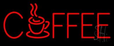 Red Coffee Mug LED Neon Sign