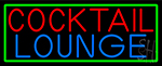 Cocktail Lounge With Green Border Neon Sign