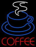 Red Coffee With Cup LED Neon Sign