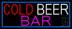 Cold Beer Bar LED Neon Sign