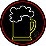 Cold Beer Mug With Red Border LED Neon Sign