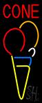 Cone Multicolored Ice Cream LED Neon Sign