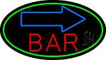 Curve Bar With Arrow LED Neon Sign