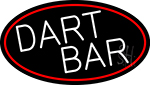 Dart Bar With Oval With Red Border LED Neon Sign