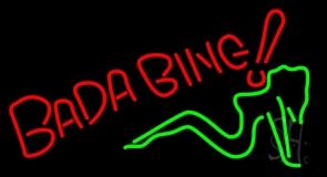 Bada Bing Girl LED Neon Sign