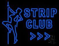 Blue Strip Club LED Neon Sign