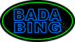 Double Stroke Blue Bada Bing With Green Border LED Neon Sign