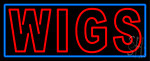 Double Stroke Red Wigs LED Neon Sign