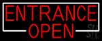 Entrance Red Open LED Neon Sign