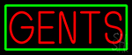 Gents Restroom With Green Border LED Neon Sign