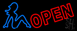 Girls Strip Club Open Neon Sign
