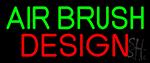 Green Air Brush Design LED Neon Sign