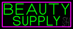 Green Beauty Supply Neon Sign