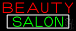 Green Cursive Beauty Block Salon Neon Sign