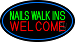 Green Nails Walk Ins Welcome Neon Sign
