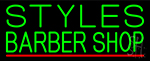 Green Styles Barber Shop Neon Sign