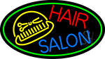 Hair Salon With Scissor And Comb Neon Sign