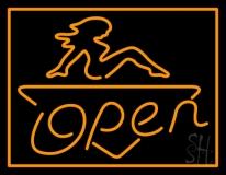 Open Strip Girl LED Neon Sign