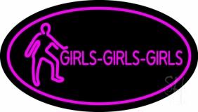Pink Girls Girls Girls LED Neon Sign