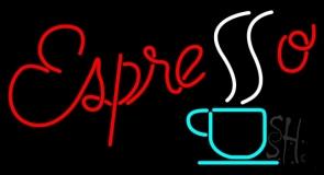 Red Espresso LED Neon Sign