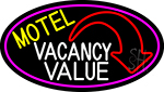 Motel Vacancy Value With Arrow LED Neon Sign