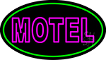 Motel With Green Border Neon Sign