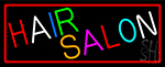 Multicolored Hair Salon Neon Sign