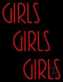 Red Girls Girls Girls Strip LED Neon Sign