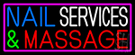 Nail Services And Massage Neon Sign