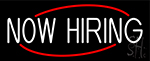 Now Hiring Neon Sign
