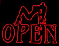 Strip Girl Open LED Neon Sign