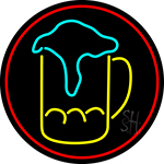 Overflowing Beer Mug LED Neon Sign