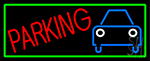 Parking With Car LED Neon Sign