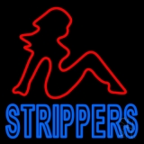 Strippers LED Neon Sign