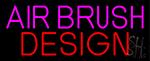 Pink Airbrush Design LED Neon Sign