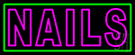 Pink Double Stroke Nails Neon Sign