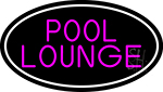 Pool Lounge Oval With White Border Neon Sign