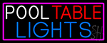 Pool Table Lights With Pink Border Neon Sign