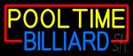Pool Time Billiard Neon Sign