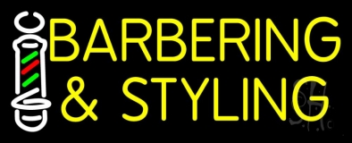 Barbering And Styling LED Neon Sign
