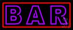 Purple Bar LED Neon Sign